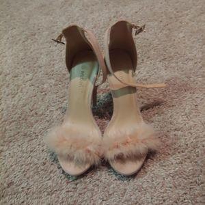 Light Pink Fluffy Heels